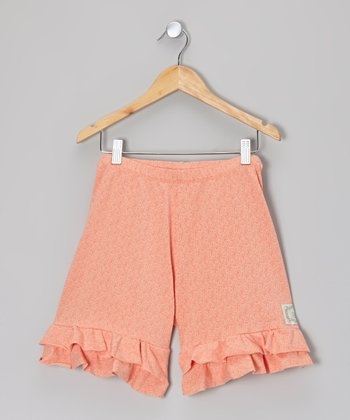 Peachy Keen Tiered Ruffle Shorts - Girls