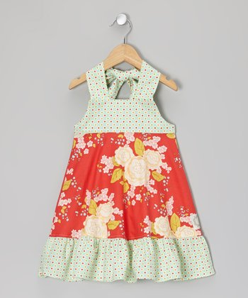 Strawberry Serenade Halter Dress - Infant
