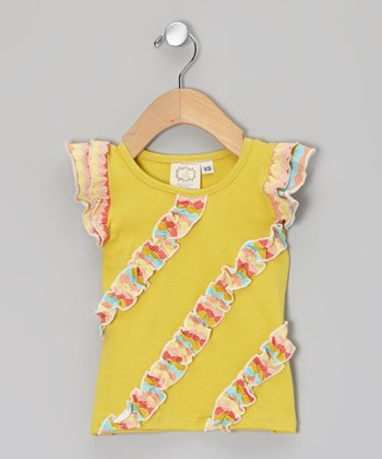 Rainbow Sherbert Ruffle Tank - Infant, Toddler & Girls