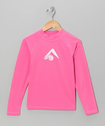 Pink Logo Rashguard - Toddler & Girls
