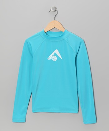 Aqua Logo Rashguard - Toddler & Boys