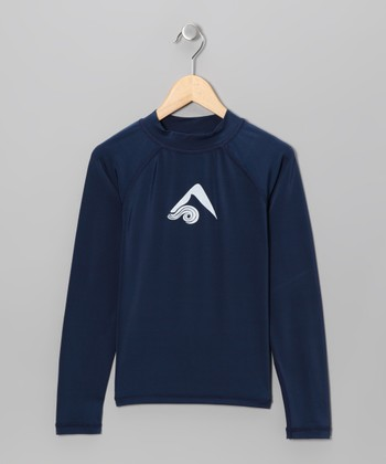 Navy Logo Rashguard - Toddler & Boys