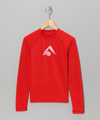 Red Logo Rashguard - Toddler & Boys