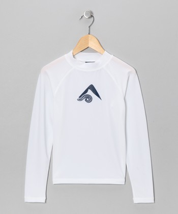 White Platinum Rashguard - Toddler & Boys