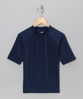 Navy Rashguard - Boys