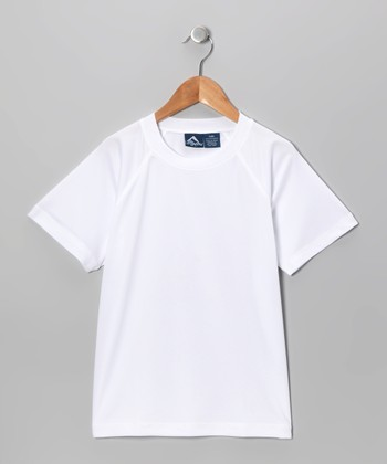 White Rashguard - Toddler & Boys