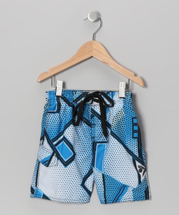 Royal Comic Strip Swim Trunks - Toddler & Boys