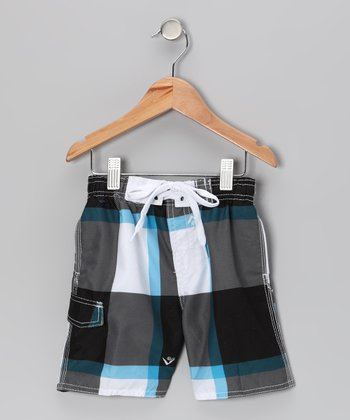 Black X-Pro Swim Trunks - Toddler & Boys