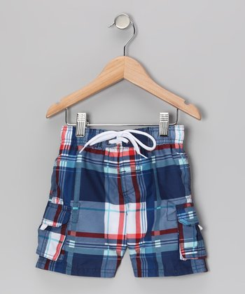 Navy Getaway Swim Trunks - Infant