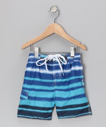 Royal Blue Quantum Swim Trunks - Infant