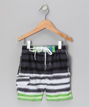 Turf Green Quantum Swim Trunks - Infant
