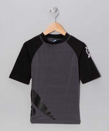 Charcoal Rashguard - Toddler & Boys