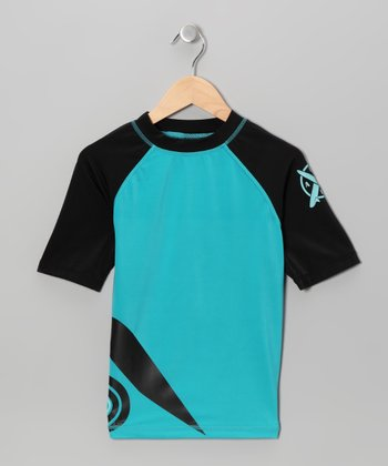 Dark Seafoam Rashguard - Toddler & Boys