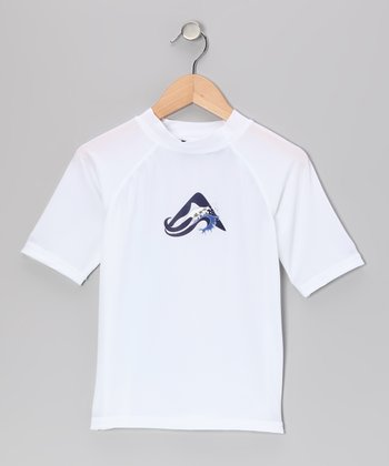 White Oahu Rashguard - Toddler & Boys