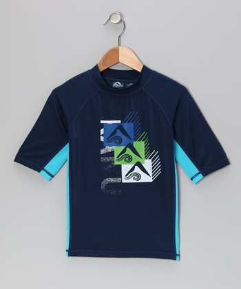 Navy Mercury Rashguard - Toddler & Boys