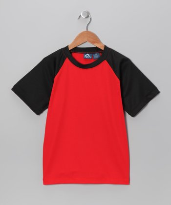 Red & Black Rashguard - Toddler & Boys