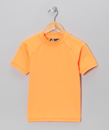 Neon Orange Rashguard - Toddler & Girls