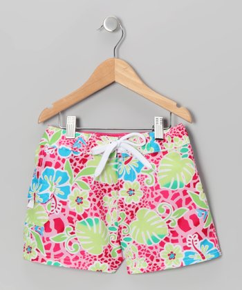 Pink Island Boardshorts - Girls