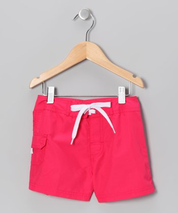 Raspberry Boardshorts - Girls
