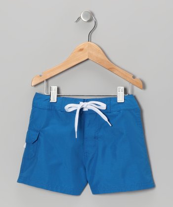 Twilight Blue Boardshorts - Girls