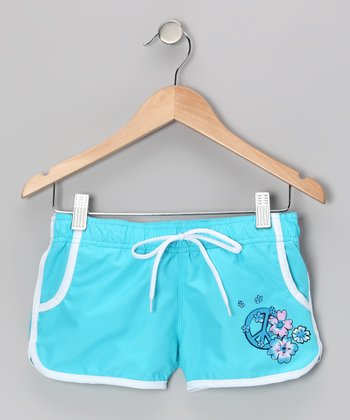 Aqua Savannah Boardshorts - Girls