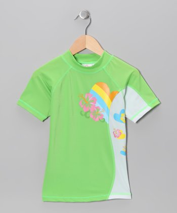 Green Island Love Rashguard - Toddler & Girls