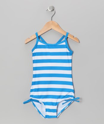 Blue Stripe One-Piece - Infant