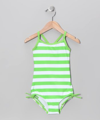 Green Stripe One-Piece - Infant
