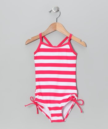Raspberry Stripe One-Piece - Infant