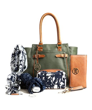 Pine Green Gail Tote & Essentials Box Set