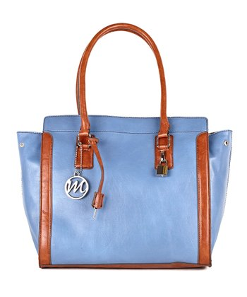 Denim Blue Lorri Briefcase Tote