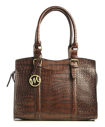 Mahogany Crocodile Jane Satchel