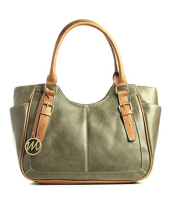 Moss Green Jane Double Shoulder Bag