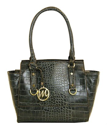 Gray Crocodile Kimberley Small Satchel