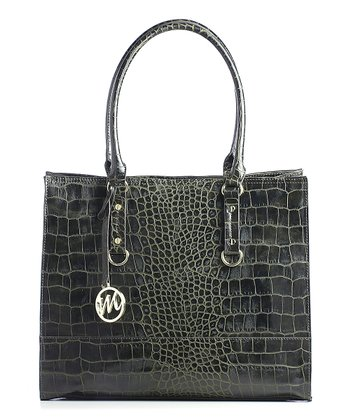 Green Crocodile Kimberley Tote