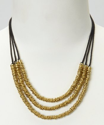Gold Triple Strand Necklace