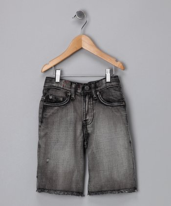Vintage Black Jean Shorts - Toddler & Boys