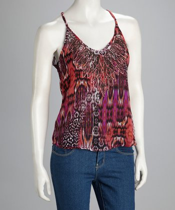 Purple & Red Racerback Tank