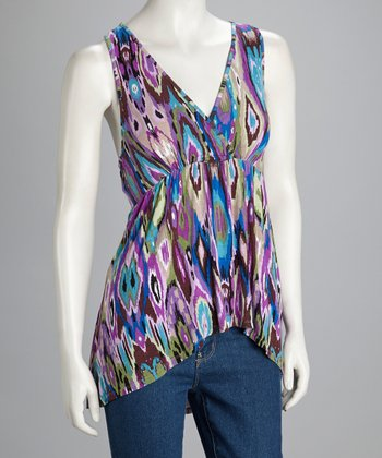 Purple Hi-Low Sleeveless Top