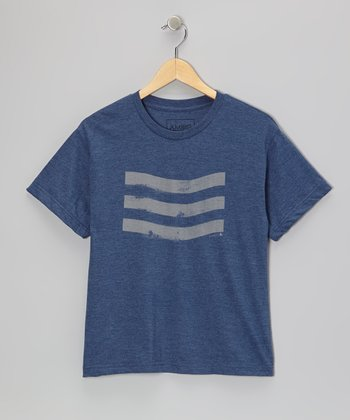 Navy Stripe Tee - Boys