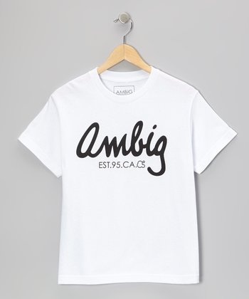 White Calligraphy Tee - Boys