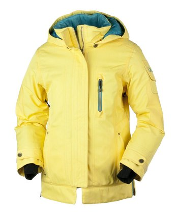 Yellow Snapdragon Iconic Jacket - Girls