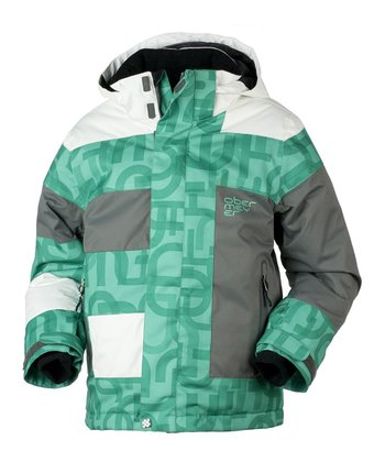 Pool Green Scrambled Renegade Jacket - Boys