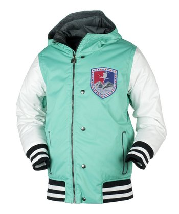 Pool Green Varsity Jacket - Boys