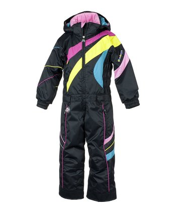 Black Astro Snow Suit - Girls