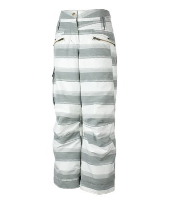 Quarry Stripe Jacquard Twilight Snow Pants - Girls