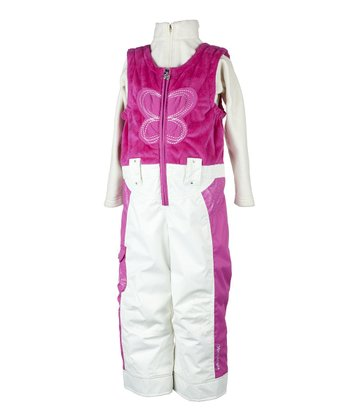 China Pink Love Bib Pants - Toddler & Girls