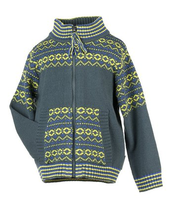Slate Nordic Zip-Up Sweater - Infant, Toddler & Girls