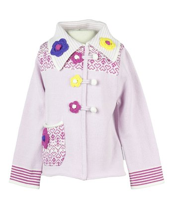 Cotton Candy Franny Collared Sweater - Toddler & Girls