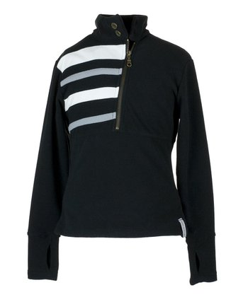 Black Regatta Fleece Pullover - Girls